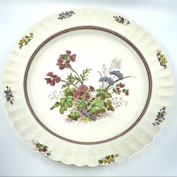 "'46 Copeland Spode Rosalie 13"" Round Serving Plate"